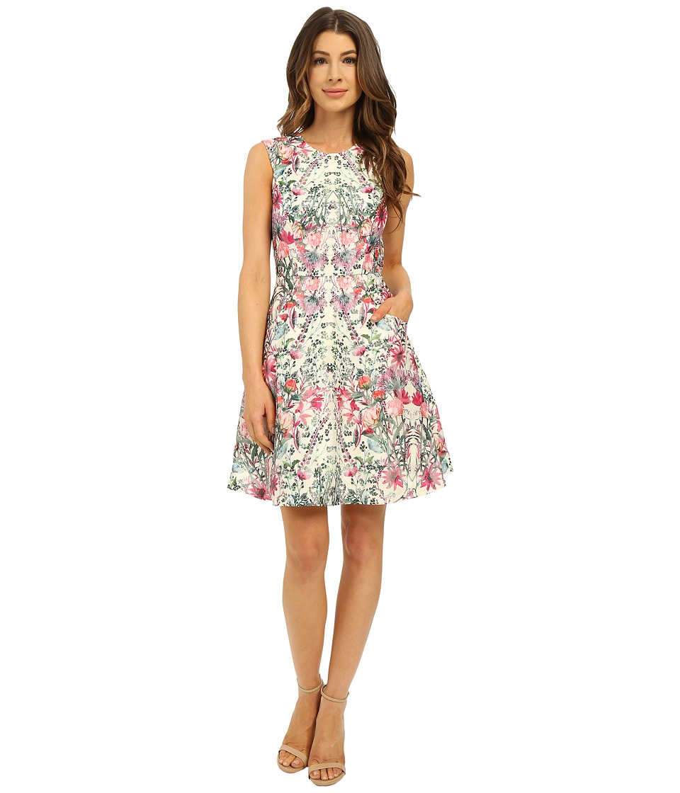 Ted Baker - Gaea Layer Bouquet Full Skirt Dress (Cream) Women's Dress