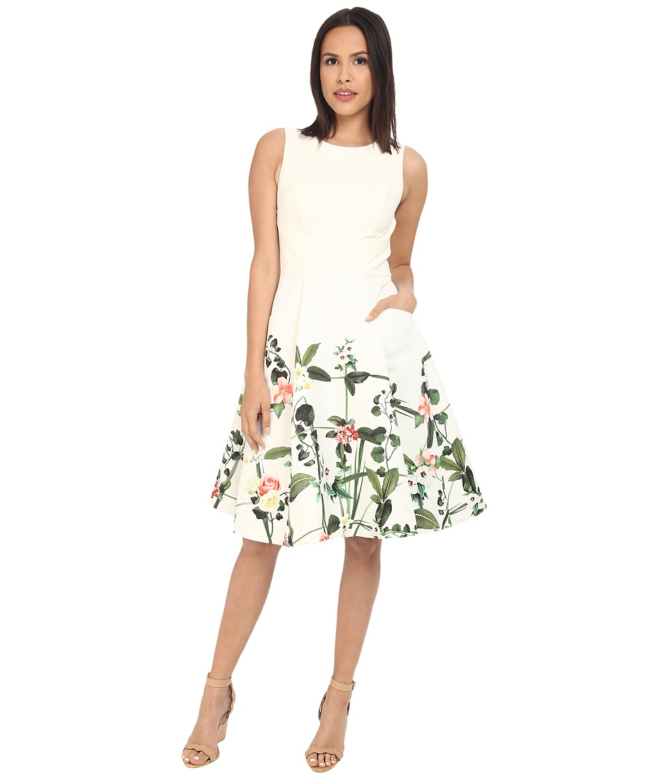 Ted Baker - Karolie Secret Trellis Print Dress (Cream) Women's Dress