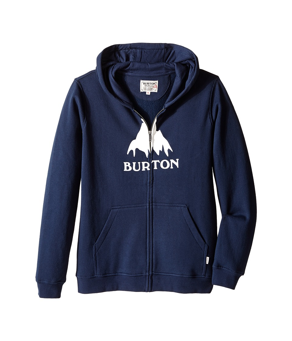Burton Kids - Classic Mountain Full Zip Hoodie (Big Kids) (Eclipse) Boy's Sweatshirt
