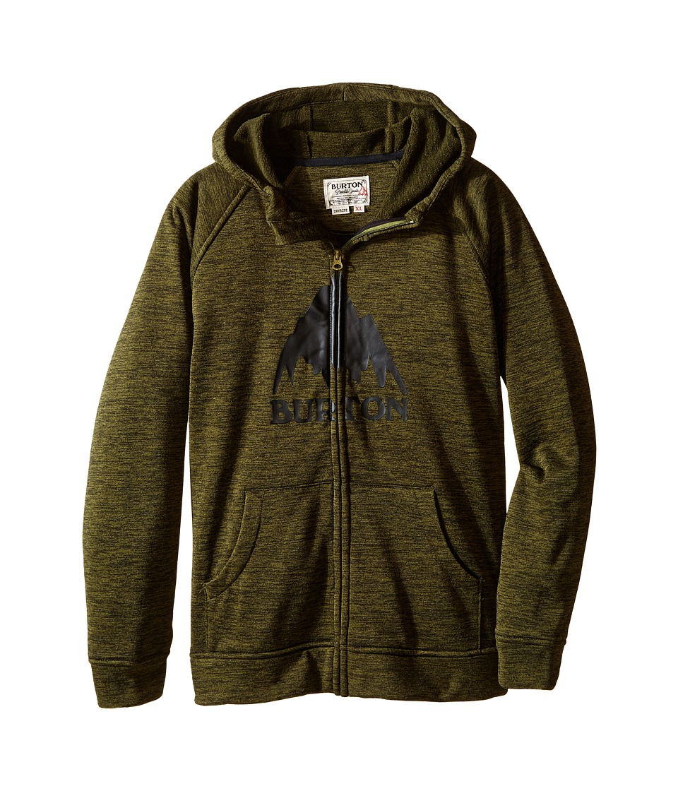 Burton Kids - Oak Full Zip Hoodie (Little Kids/Big Kids) (Olive Branch Heather) Boy's Sweatshirt