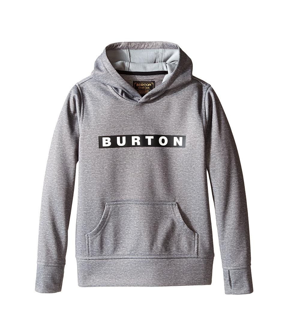 Burton Kids - Crown Bonded Pullover Hoodie (Little Kids/Big Kids) (Monument Heather) Boy's Sweatshirt
