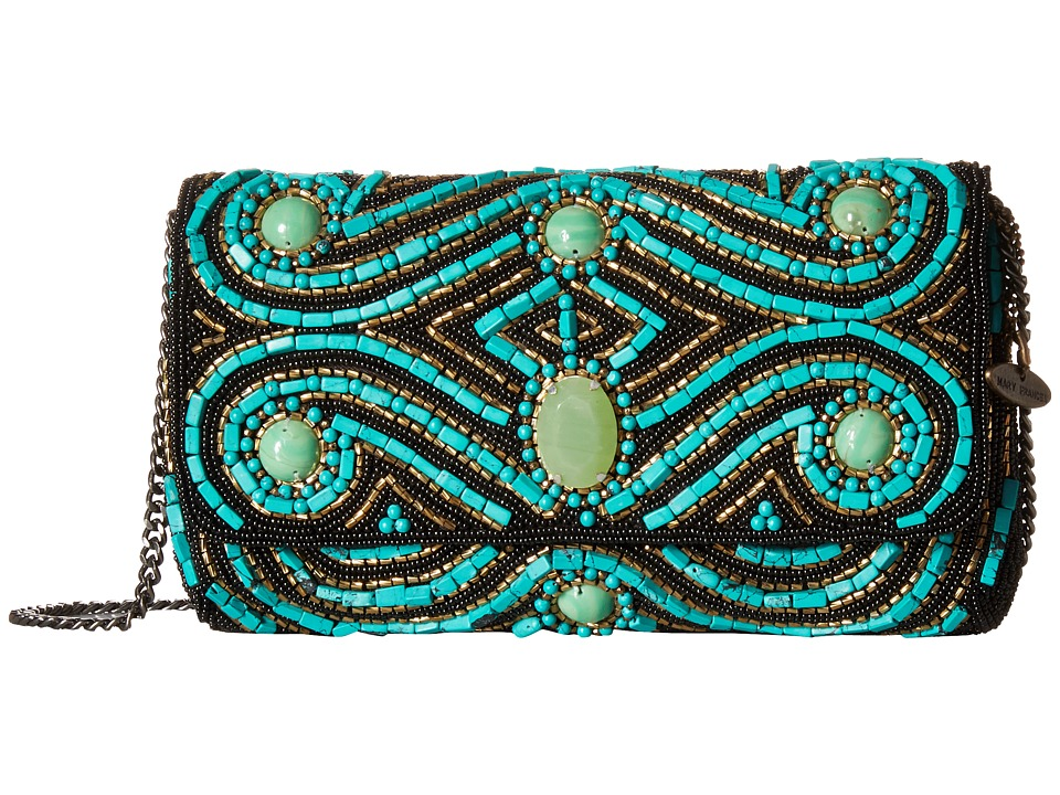 Mary Frances - Ride the Wave (Turquoise) Clutch Handbags