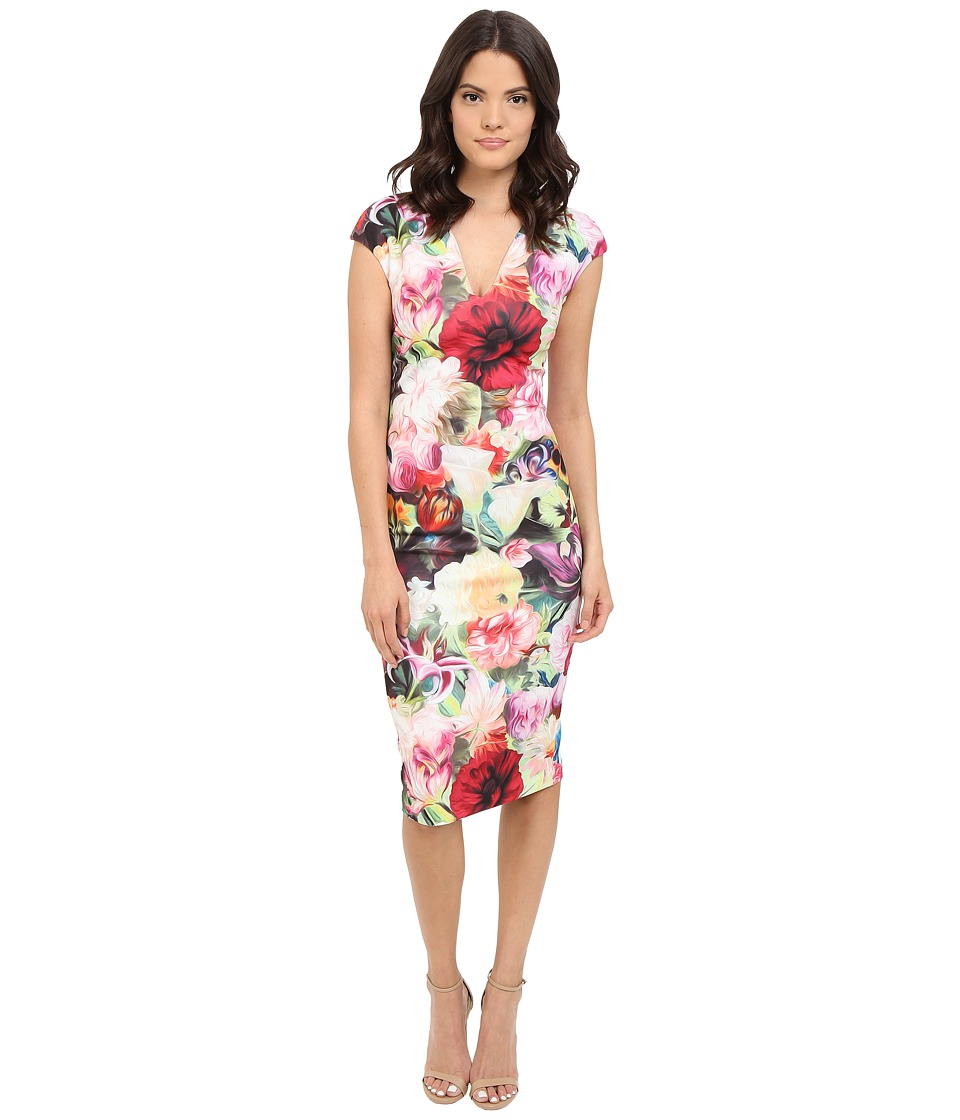 Ted Baker - Odeela Floral Swirl Print Dress (Fuchsia) Women's Dress