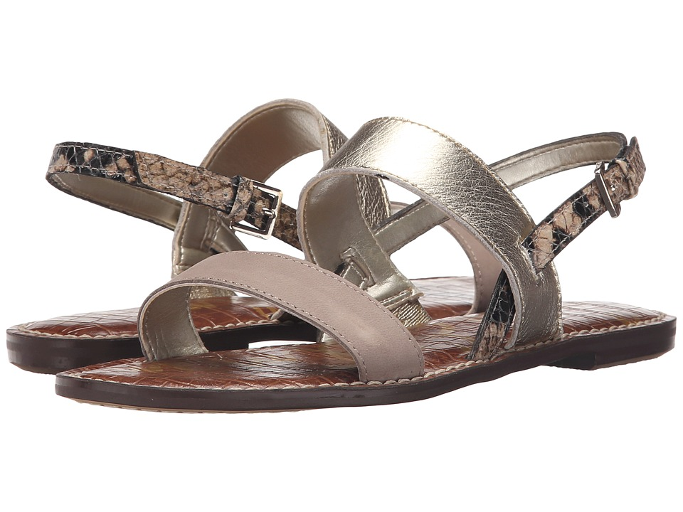 Sam Edelman - Georgiana (Putty/Jute/Natural Wayne Nubyck Leather/Tumbled Opal Metallic Le) Women's Sandals