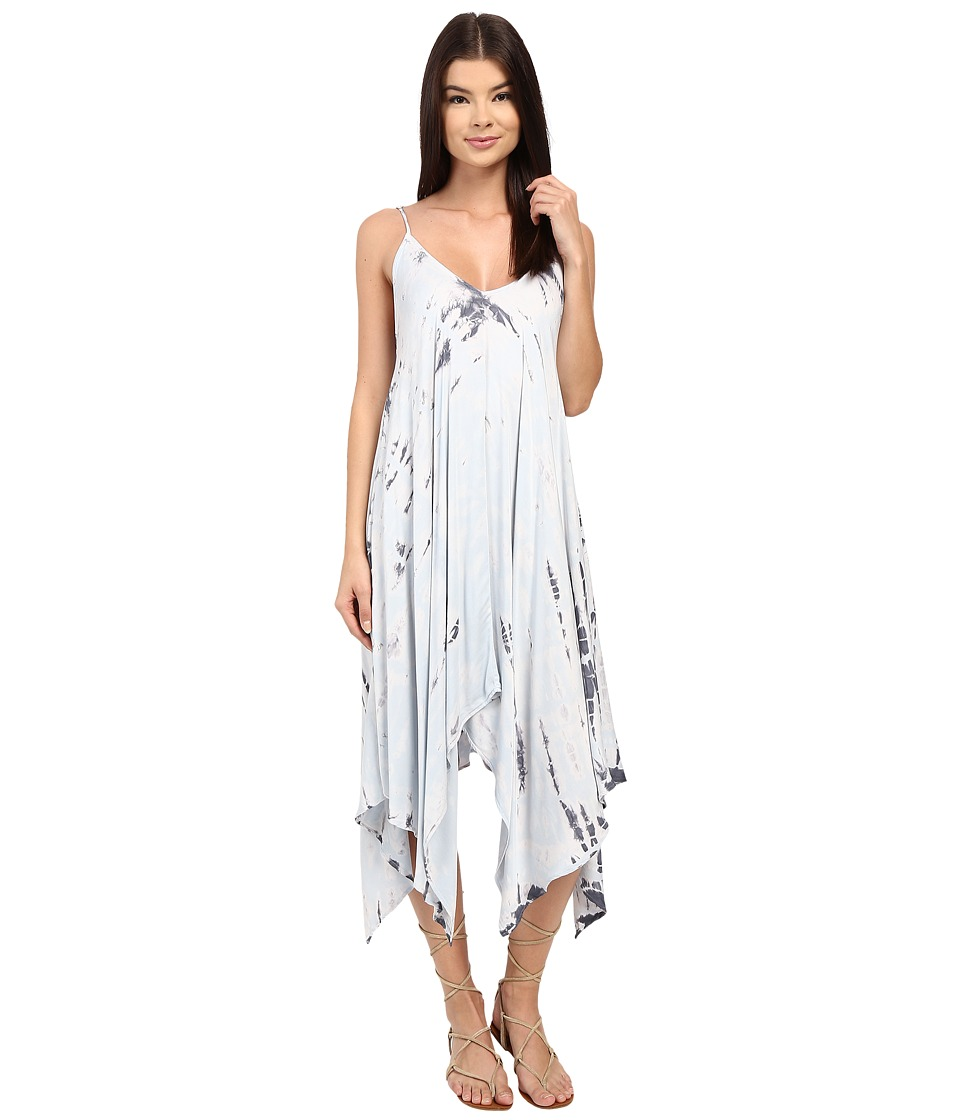Gypsy05 - Spaghetti Strap Hankerchief Hem Dress (Sky) Women's Dress