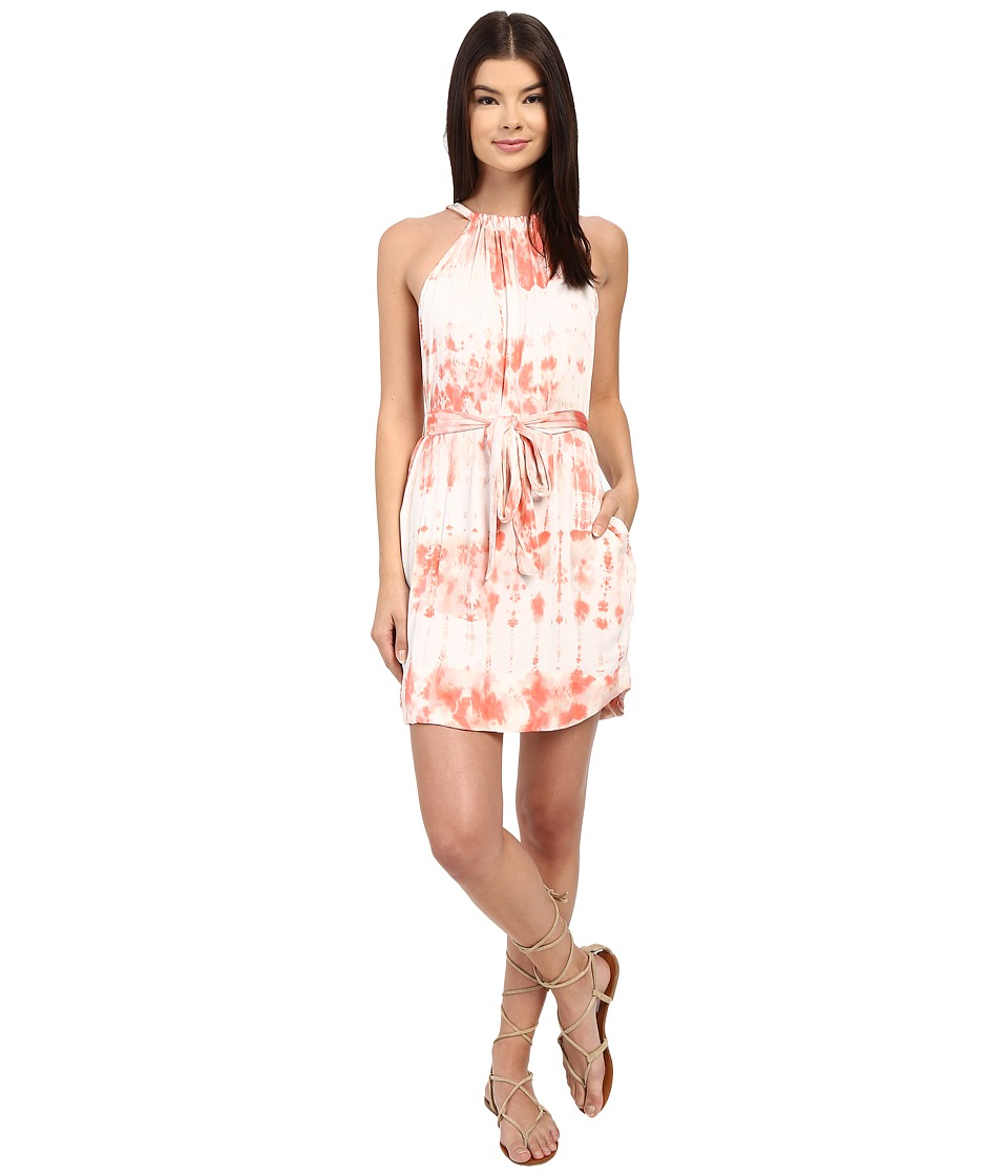 Gypsy05 - Halter Mini Dress with Waist Belt (Blush) Women's Dress