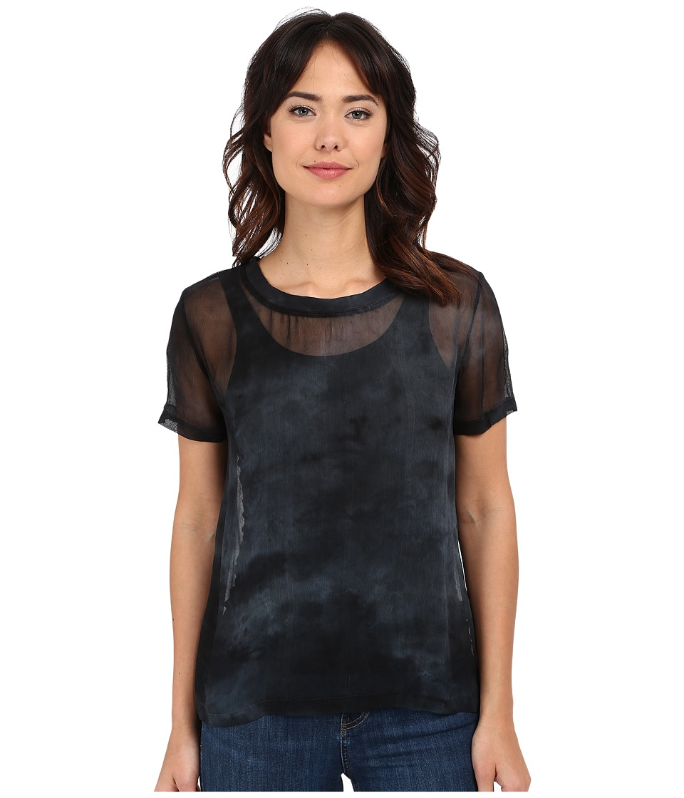 Gypsy05 - Sheer Crew Neck Tee (Slate) Women's T Shirt