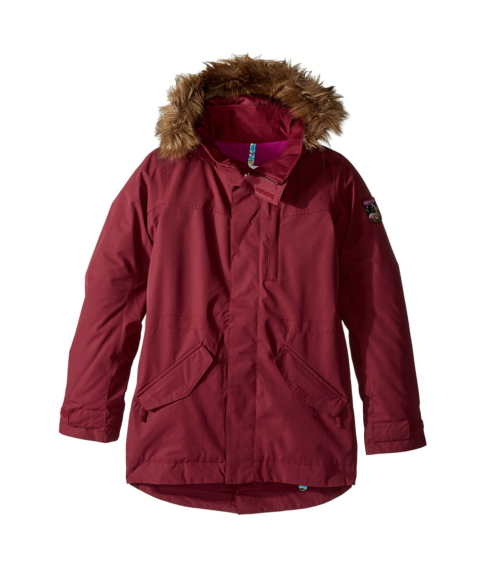Burton Kids - Aubrey Parka Jacket (Little Kids/Big Kids) (Sangria) Girl's Coat