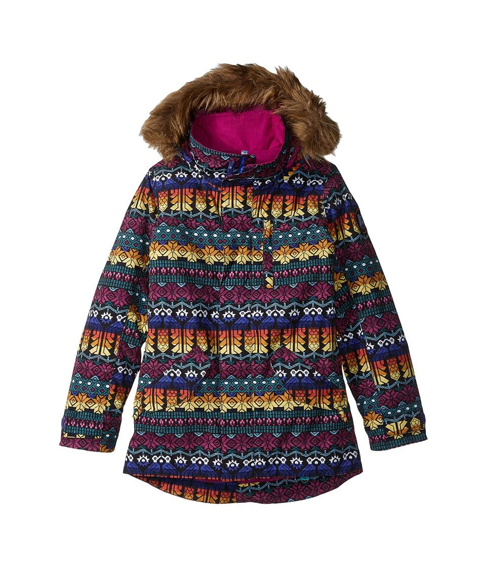 Burton Kids - Aubrey Parka Jacket (Little Kids/Big Kids) (Figaro Stripe) Girl's Coat