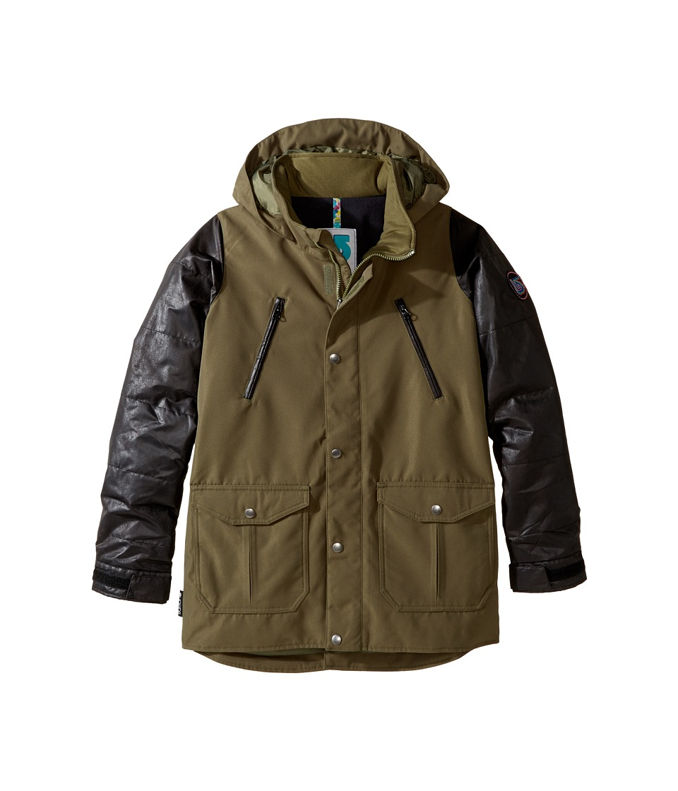 Burton Kids - Ava Trench Jacket (Little Kids/Big Kids) (Keef/Black Leather) Girl's Coat