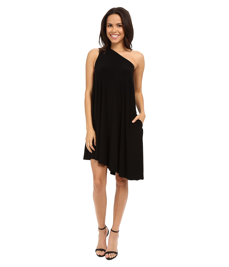 KAMALIKULTURE by Norma Kamali - One Shoulder Swing Dress (Black) Women's Dress