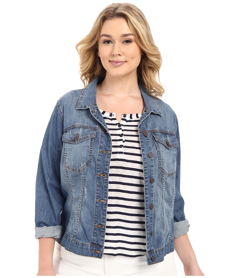 KUT from the Kloth - Plus Size Helena Denim Jacket (Zealous) Women's Jacket