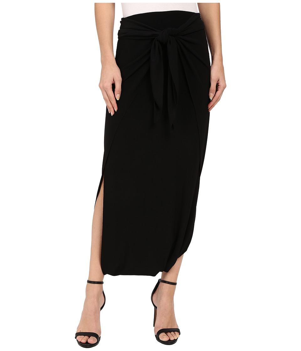 KAMALIKULTURE by Norma Kamali - Diaper Skirt (Black) Women's Skirt