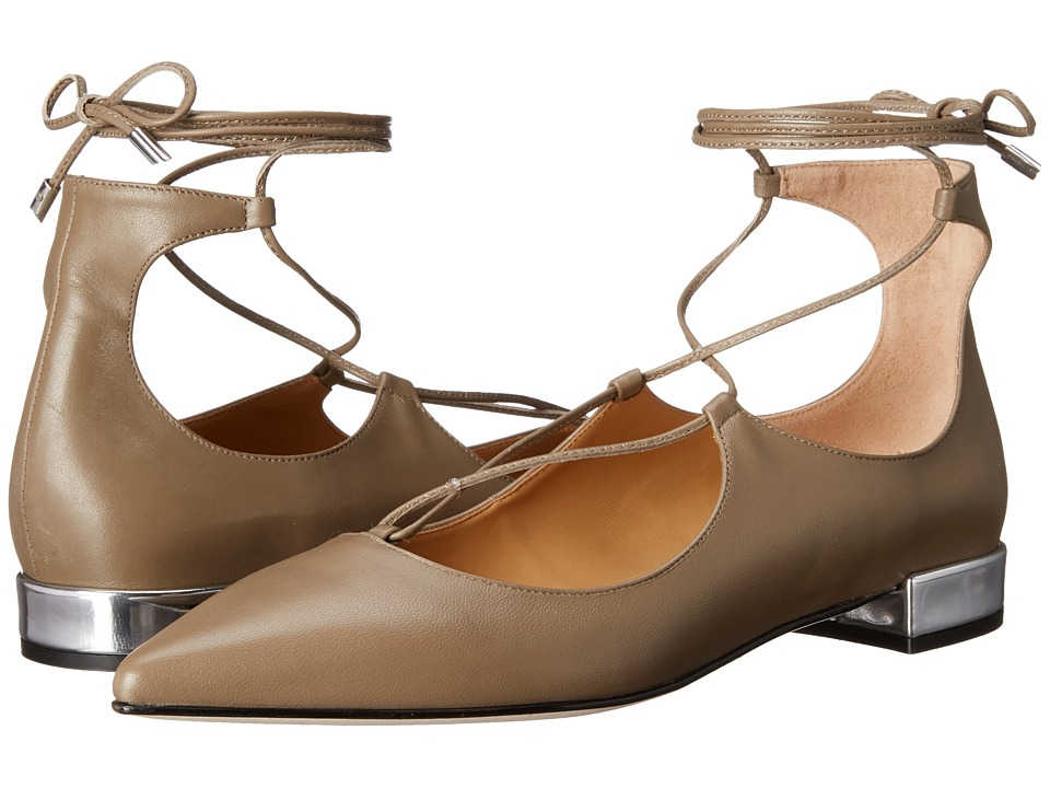 Massimo Matteo - Lace-Up Flat (Mink) Women's Flat Shoes