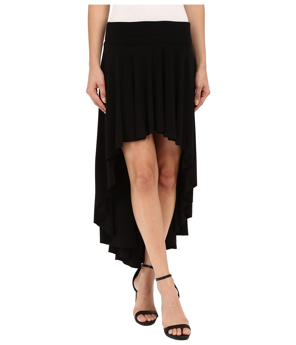 KAMALIKULTURE by Norma Kamali High-Low Skirt (Black) Women