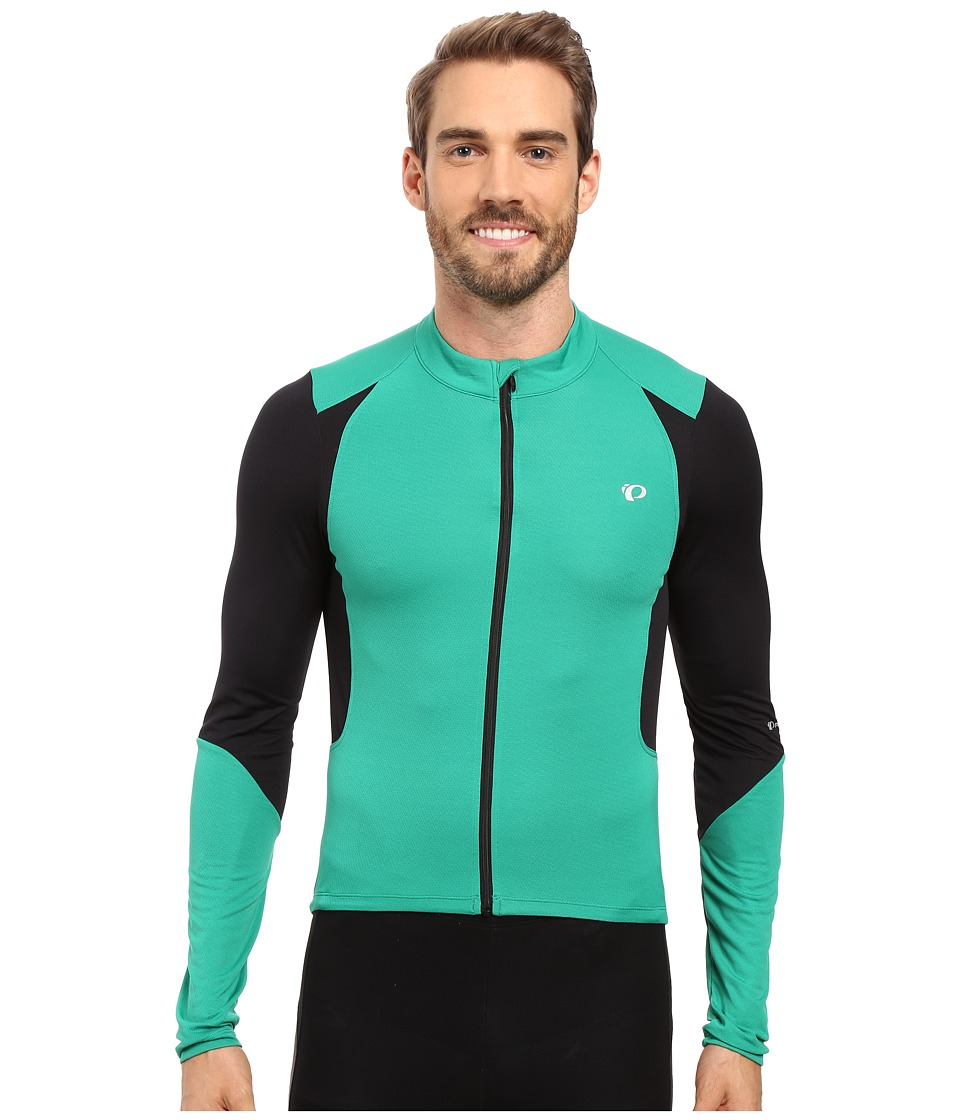 Pearl Izumi - Select Pursuit Long Sleeve Jersey (Pepper Green/Black) Men's Clothing