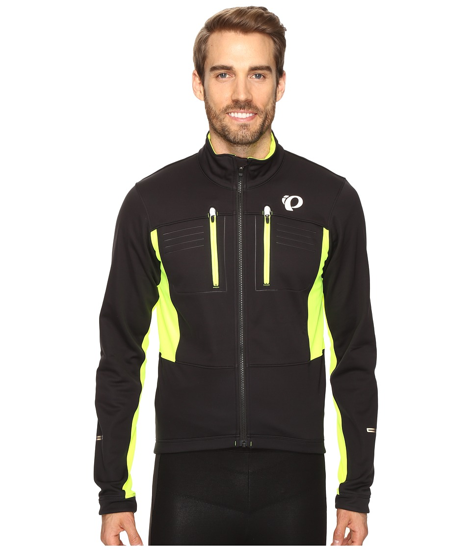 Pearl Izumi - Elite Escape Softshell Jacket (Black/Screaming Yellow) Men's Coat
