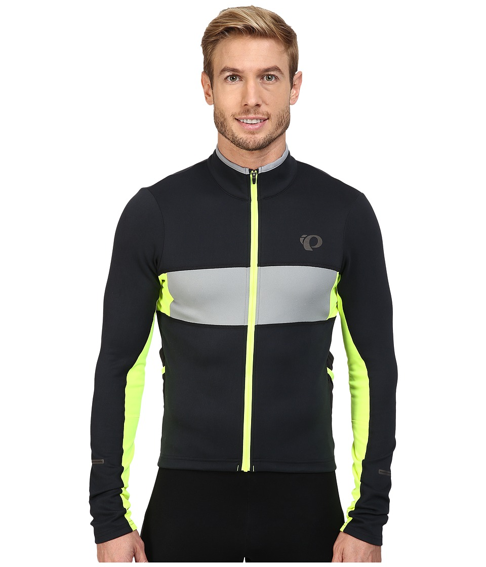 Pearl Izumi - Elite Escape Thermal Long Sleeve Jersey (Black/Screaming Yellow) Men's Clothing