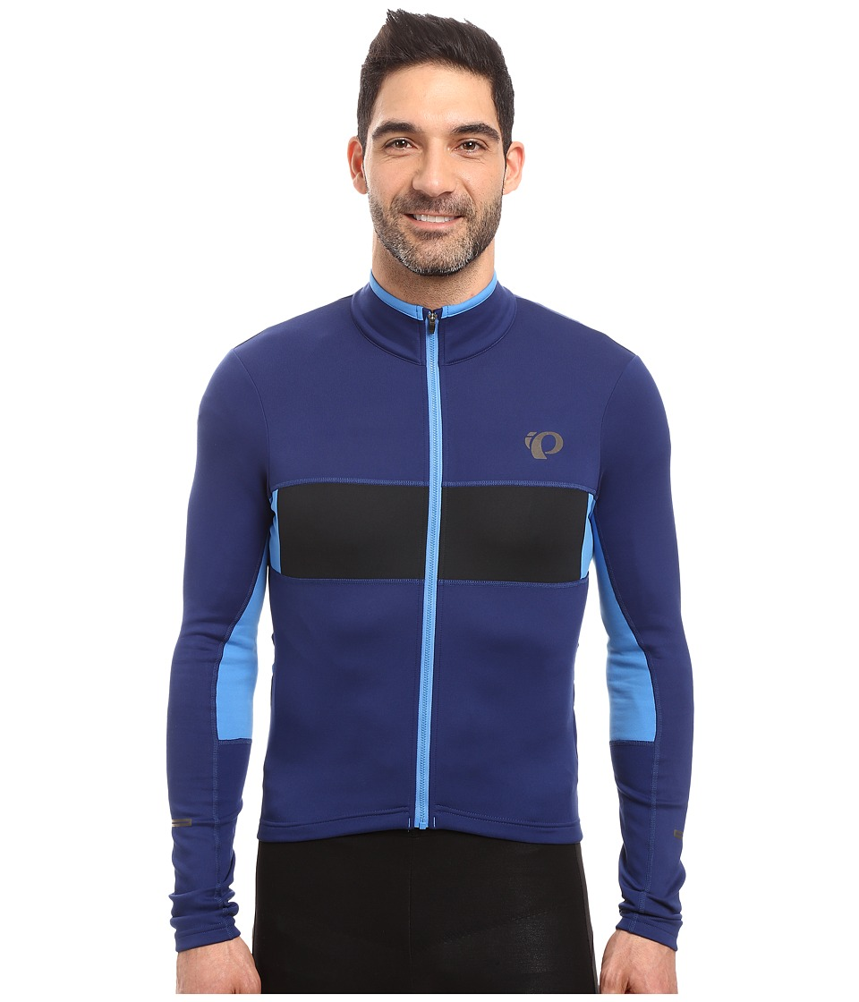 Pearl Izumi - Elite Escape Thermal Long Sleeve Jersey (Blue Depths/Black) Men's Clothing