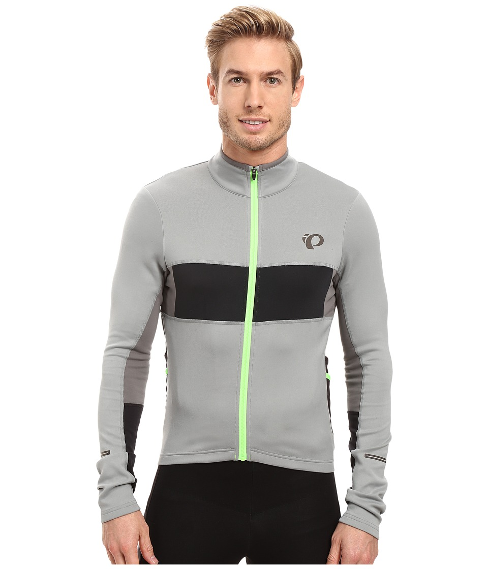 Pearl Izumi - Elite Escape Thermal Long Sleeve Jersey (Monument/Black) Men's Clothing