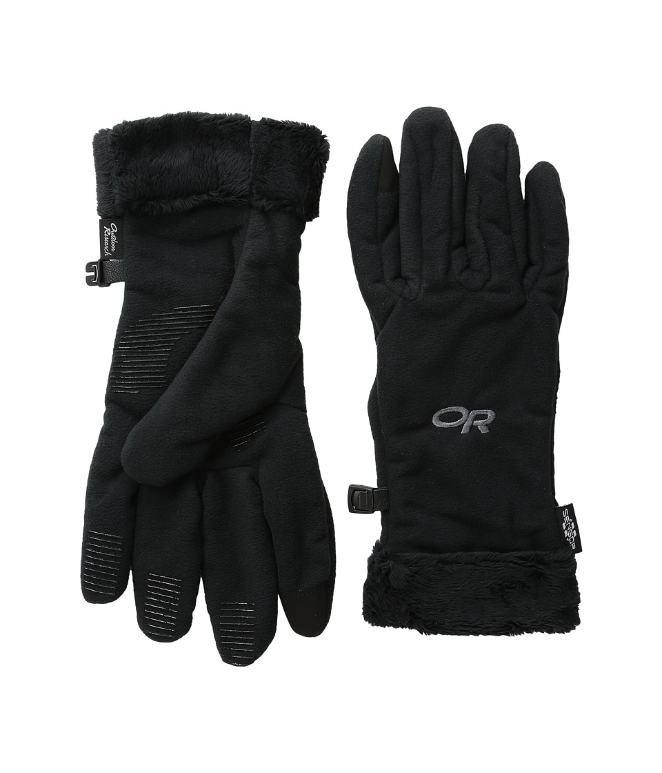 Outdoor Research - Fuzzy Sensor Gloves (Black) Extreme Cold Weather Gloves