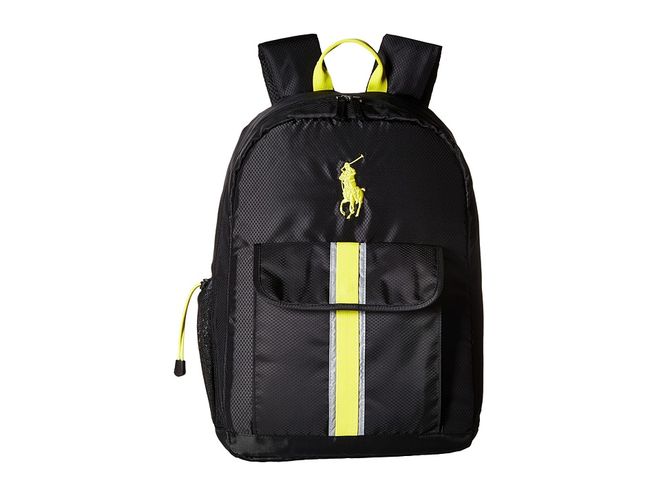 Polo Ralph Lauren Kids - Polo Techpack (Black/Citron) Backpack Bags