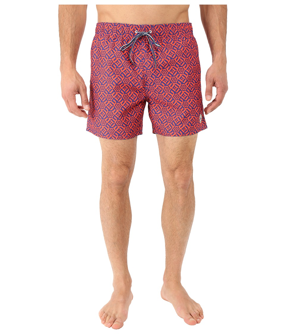 Ted Baker - Abstri Large Geo Shortti (Orange) Men's Swimwear