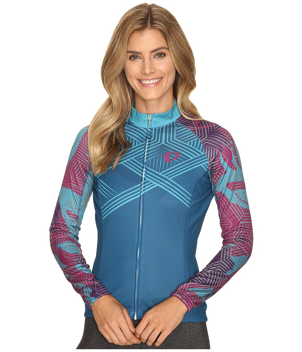 Pearl Izumi - W Elite Thermal LTD Jersey (Floral Moroccan Blue) Women's Workout
