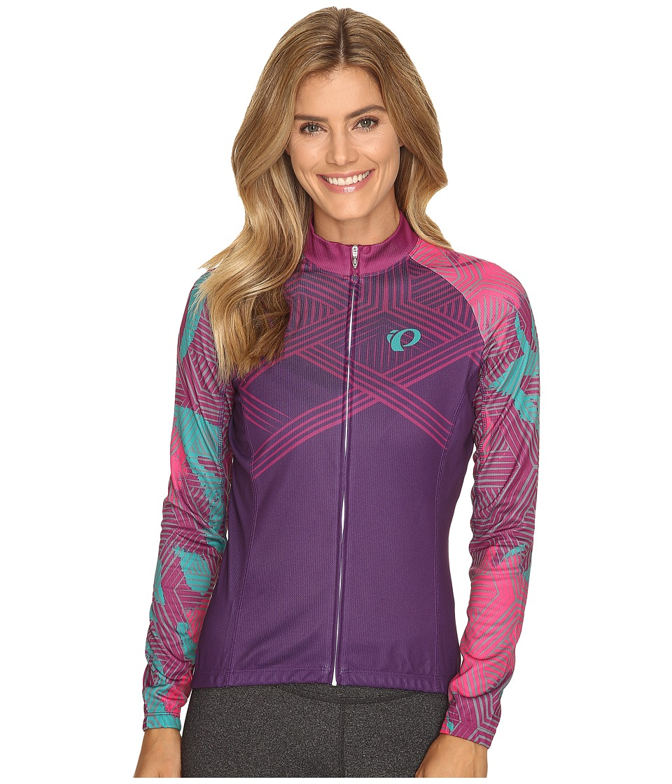 Pearl Izumi - W Elite Thermal LTD Jersey (Floral Wineberry) Women's Workout