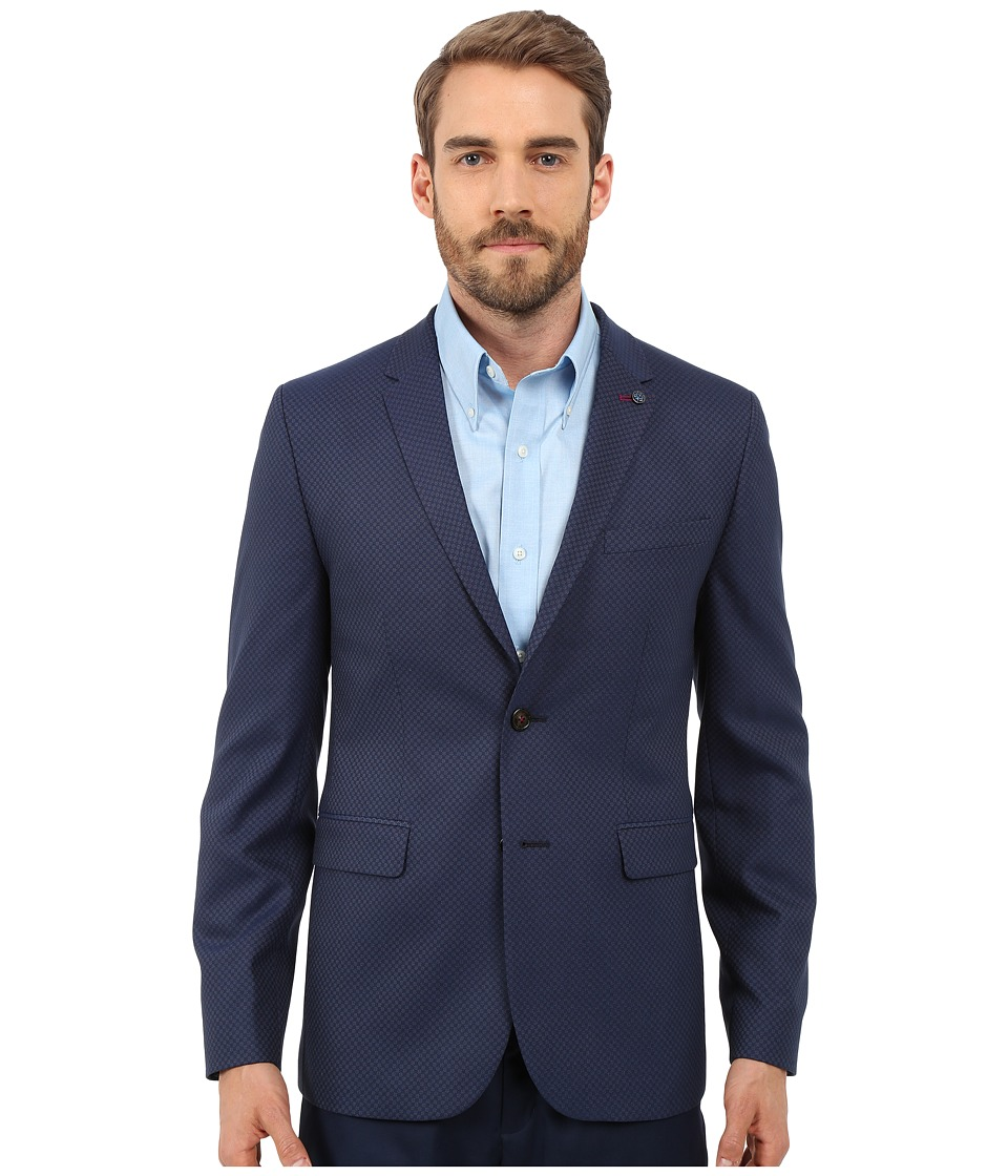 Ted Baker - Hanclap Mini Design Blazer (Dark Blue) Men's Jacket
