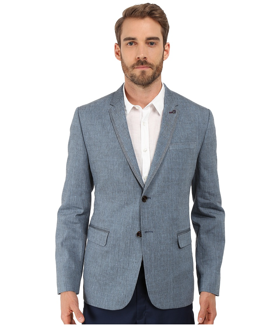 Ted Baker - Fiveban Linen Blazer (Blue) Men's Jacket