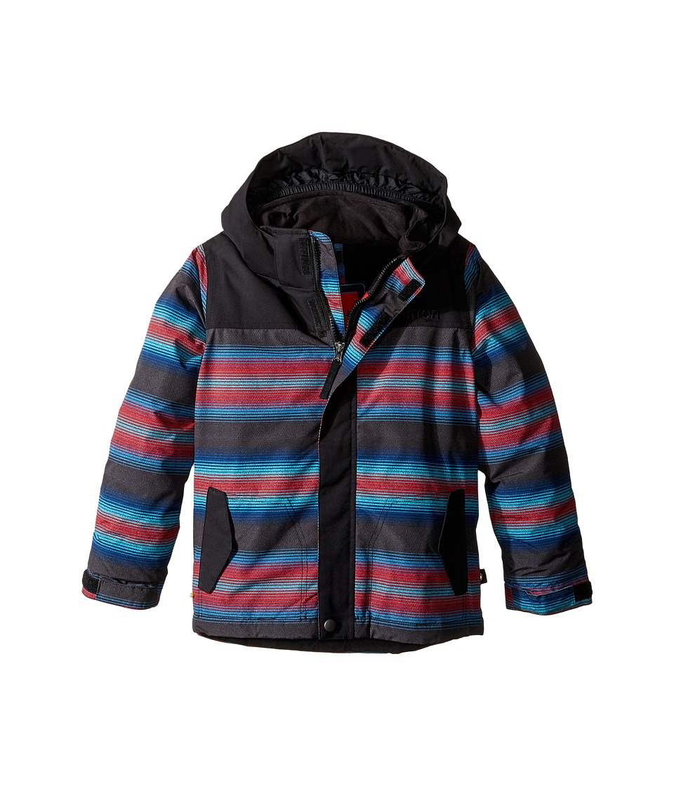 Burton Kids - Amped Jacket (Toddler/Little Kids) (Seaside Stripe/True Black) Boy's Coat