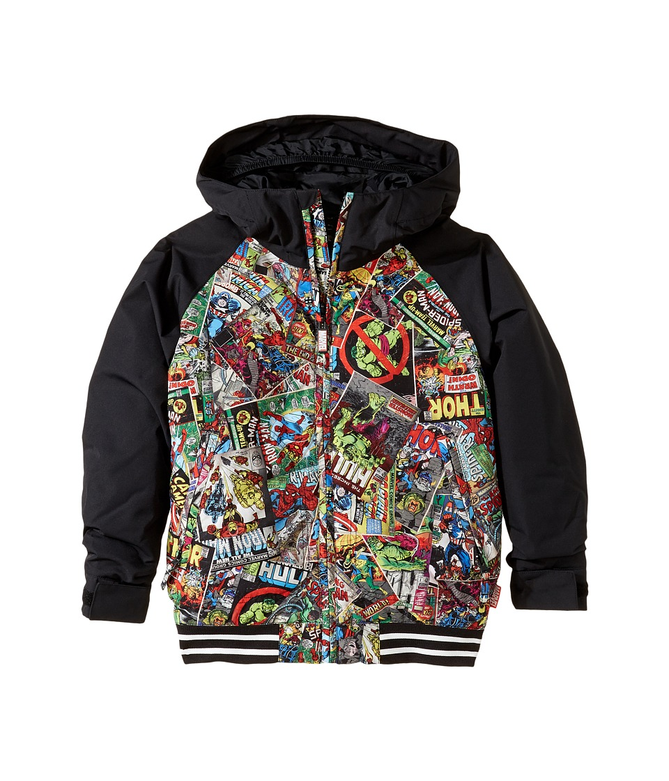 Burton Kids - Game Day Jacket (Little Kids/Big Kids) (Marvel/True Black) Boy's Coat