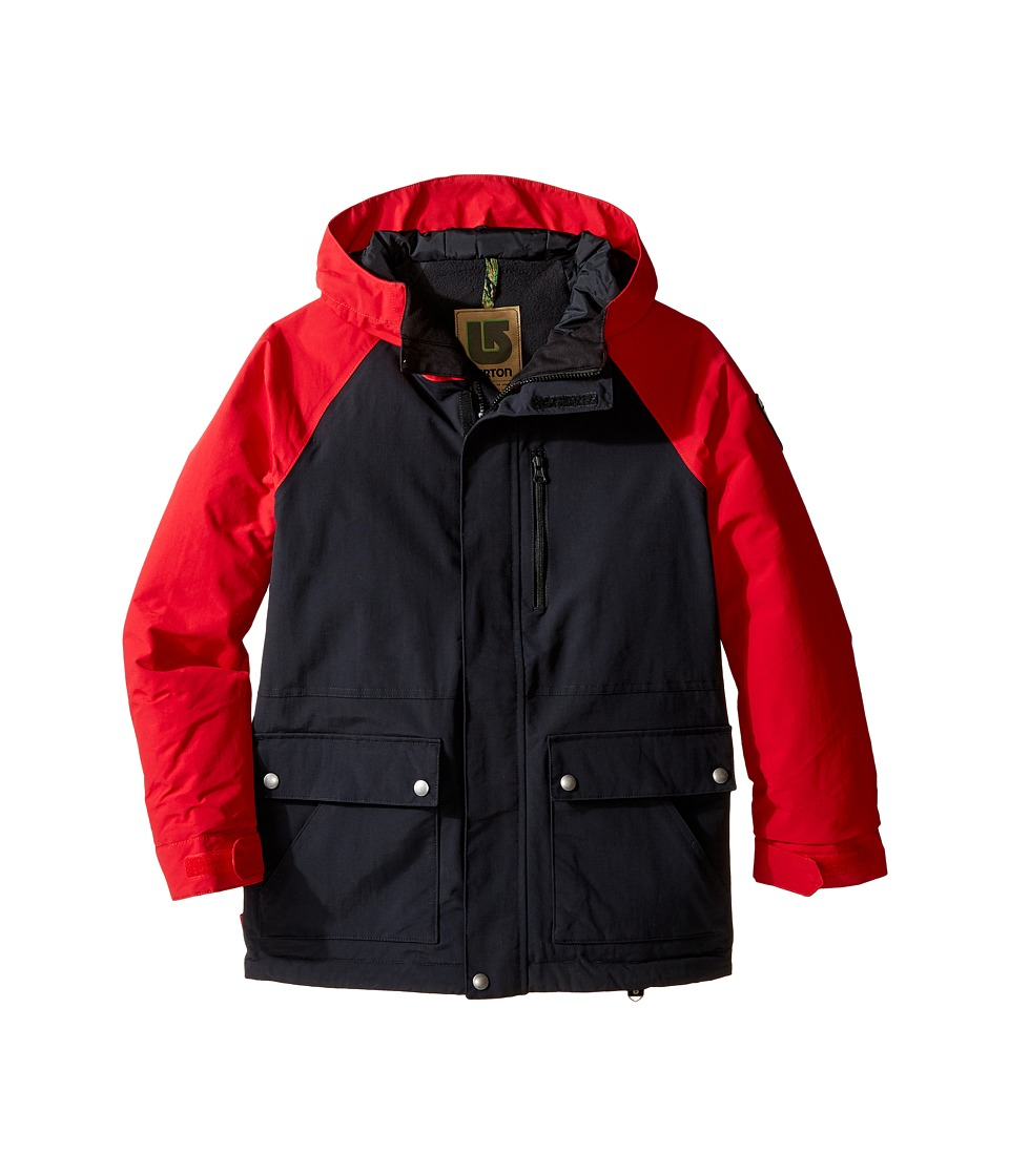 Burton Kids - Phase Jacket (Little Kids/Big Kids) (True Black/Process Red) Boy's Coat
