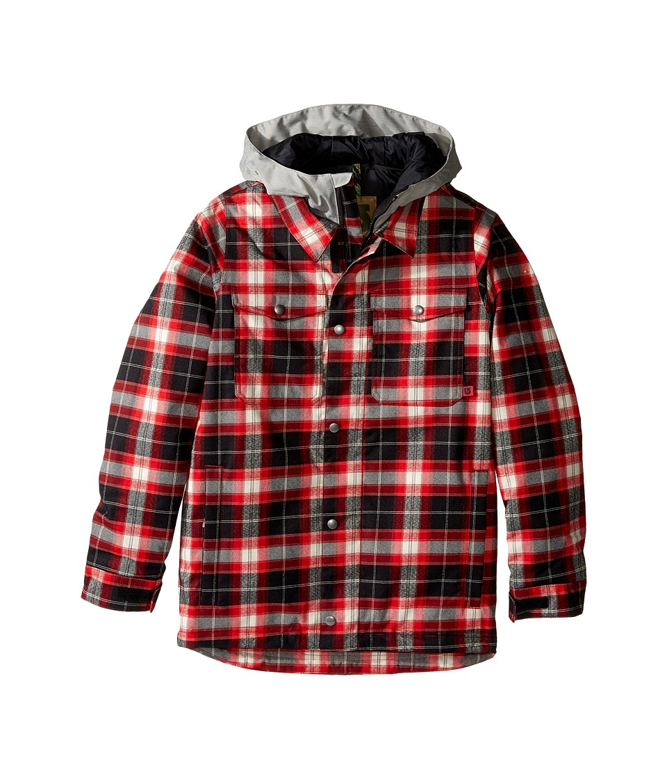 Burton Kids - Boys Uproar Jacket (Little Kids/Big Kids) (Process Red Miked Plaid) Boy's Coat