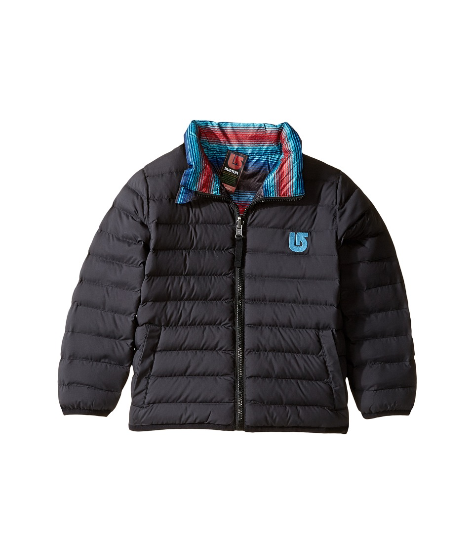 Burton Kids - Minishred Flex Puffy Jacket (Infant/Toddler/Little Kids) (True Black/Seaside Stripe) Boy's Coat