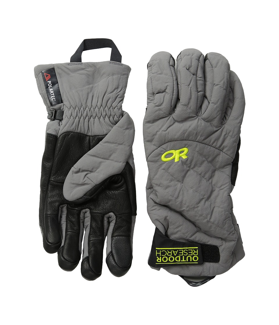 Outdoor Research - Lodestar Sensor Gloves (Pewter) Extreme Cold Weather Gloves