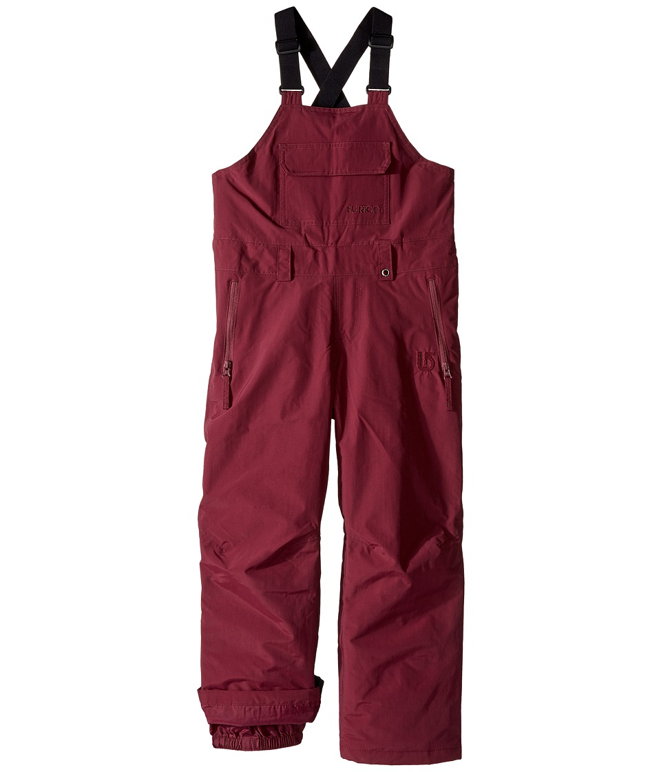 Burton Kids - Skylar Bib Pants (Little Kids/Big Kids) (Sangria) Boy's Casual Pants