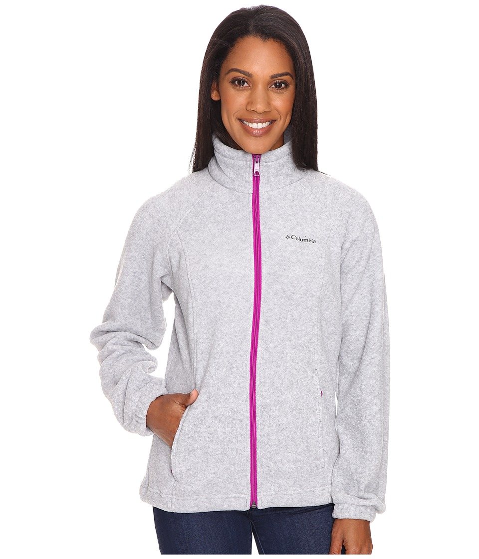 Columbia Benton Springs Full Zip (Light Grey/Bright Plum) Women