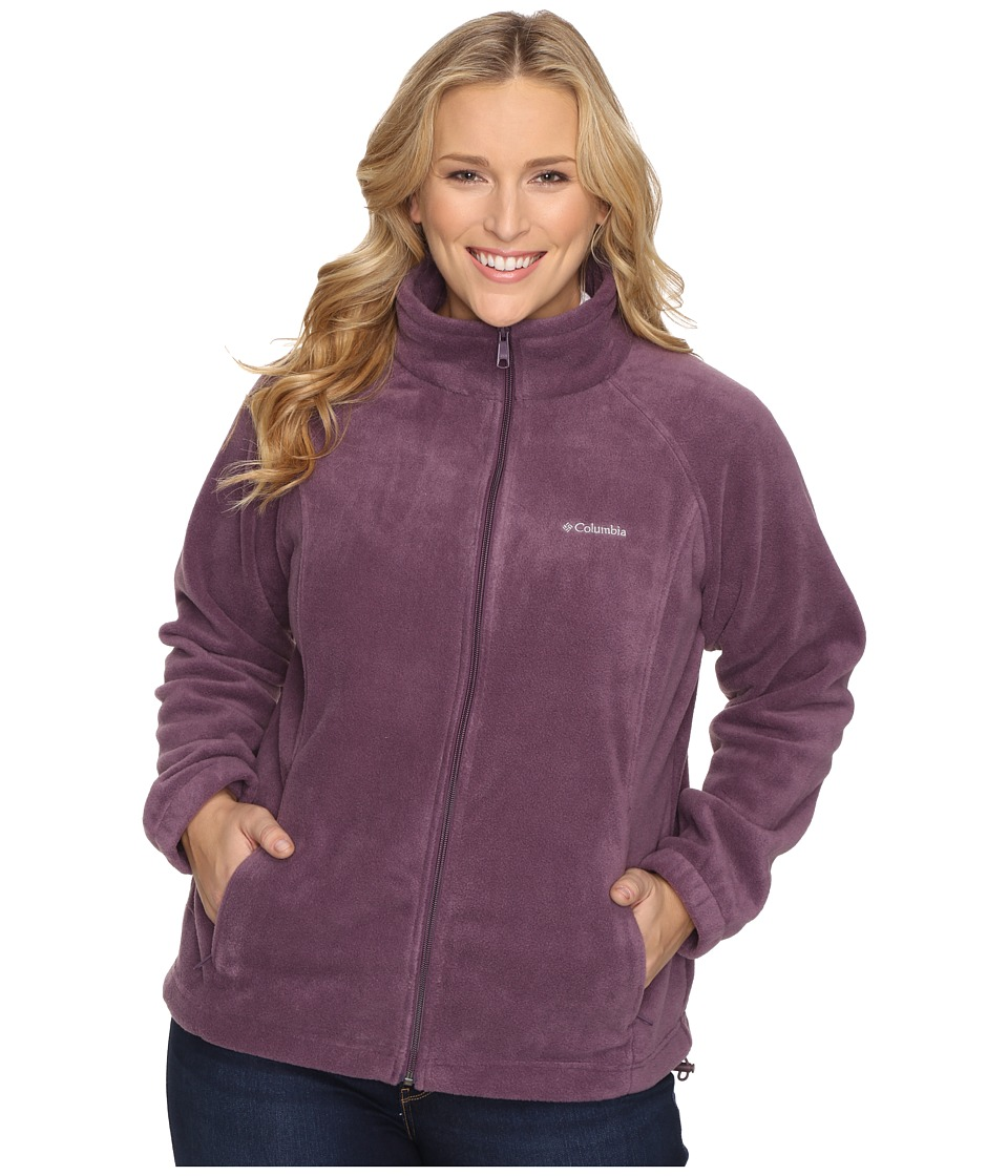 Columbia - Plus Size Benton Springs Full Zip (Dusty Purple) Women's Sweatshirt