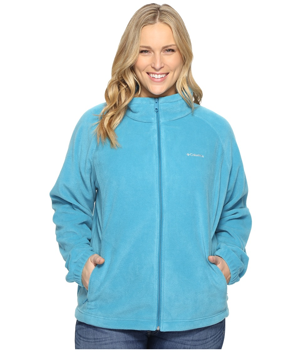Columbia - Plus Size Benton Springs Full Zip (Deep Marine) Women's Sweatshirt