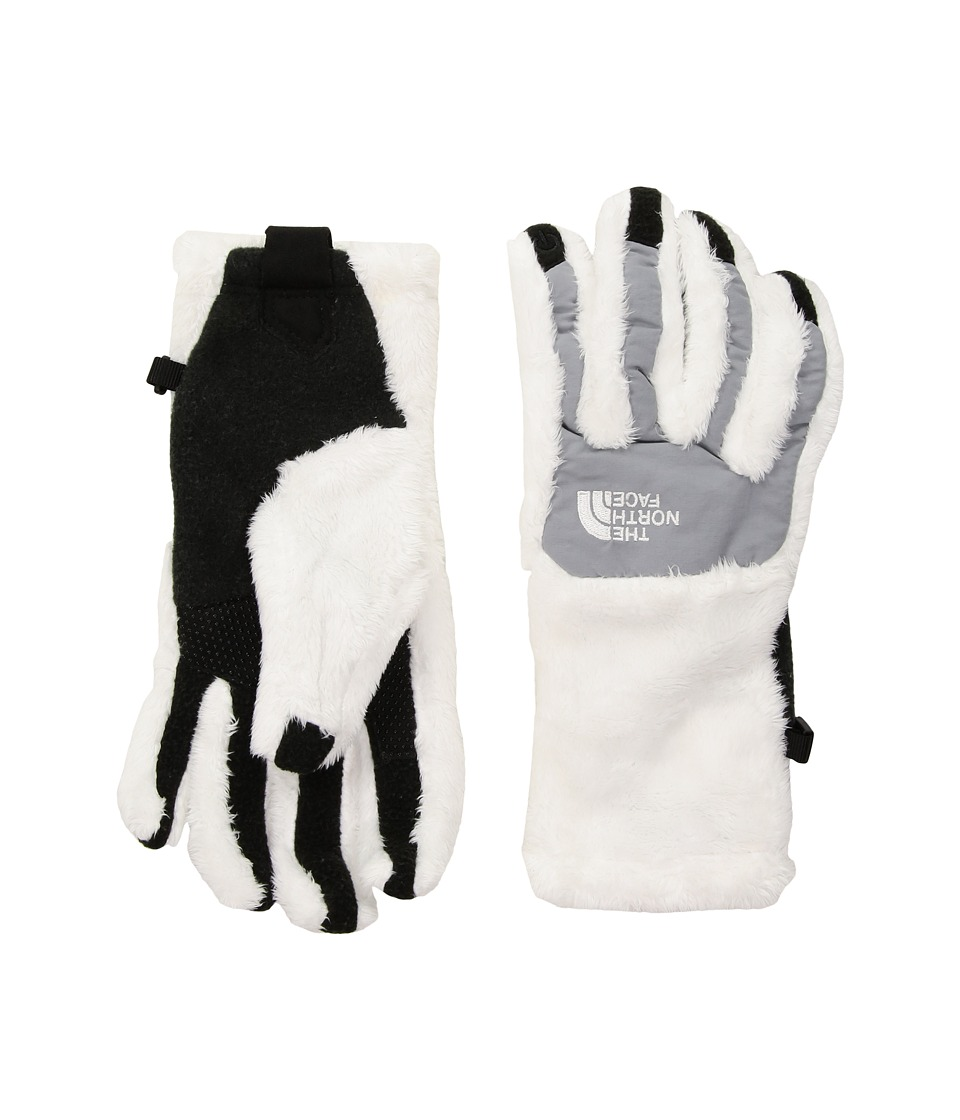 The North Face - Women's Denali Thermal Etip Glove (TNF White/Mid Grey) Extreme Cold Weather Gloves