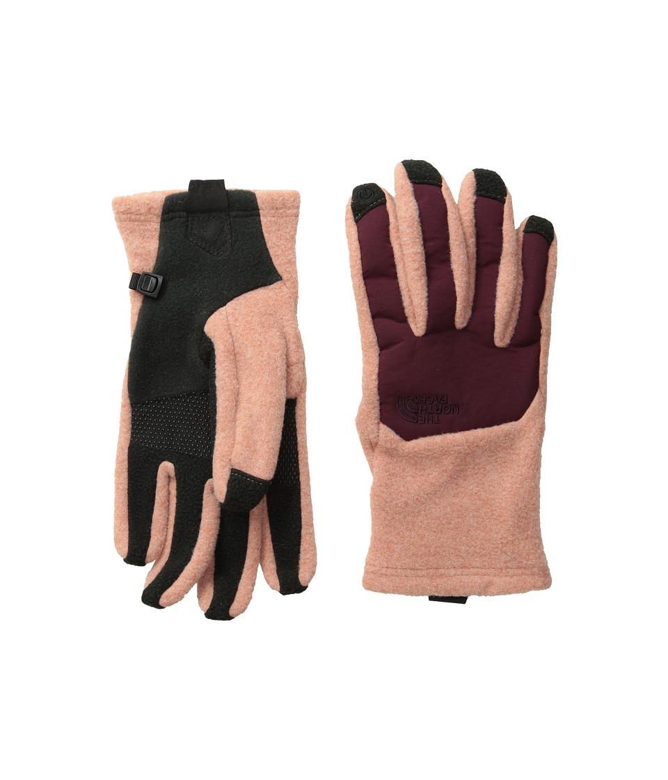 The North Face - Women's Denali Etip Glove (Rose Dawn/Deep Garnet Red) Extreme Cold Weather Gloves