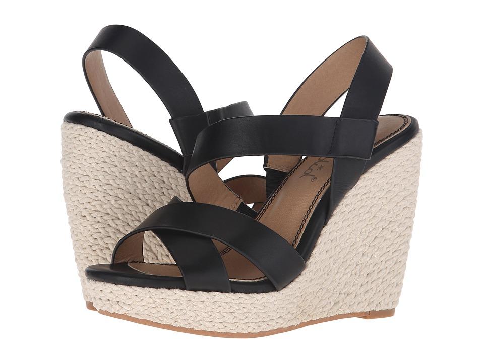Splendid - Dallis (Black Leather) Women's Hook and Loop Shoes