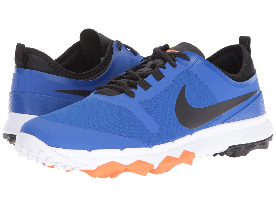 Nike Golf - FI Impact 2 (Game Royal/Total Orange/White/Black) Men's Golf Shoes