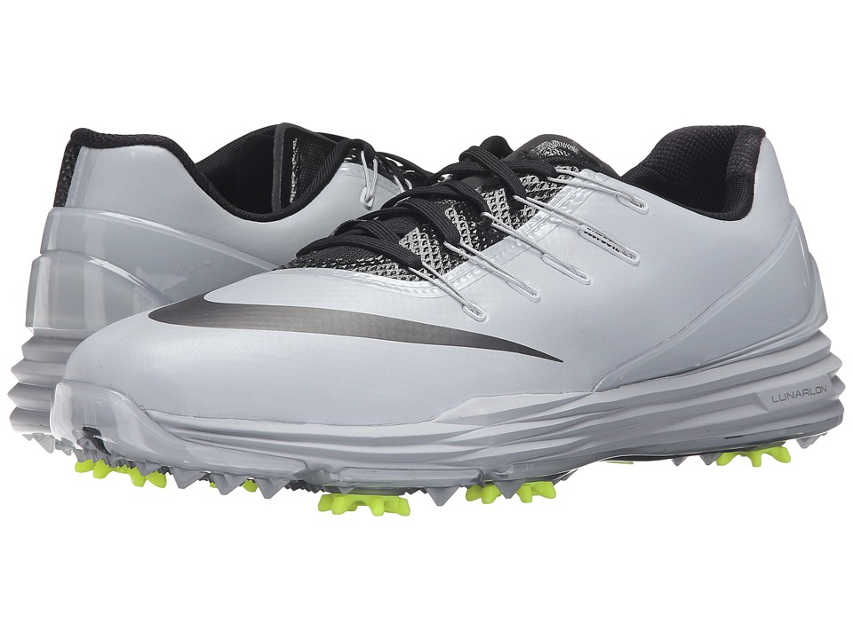 Nike Golf - Lunar Control 4 (Wolf Grey/Black/Volt/Dark Grey) Men's Golf Shoes