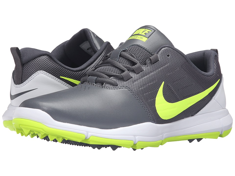 Nike Golf - Explorer SL (Dark Grey/White/Volt) Men's Golf Shoes