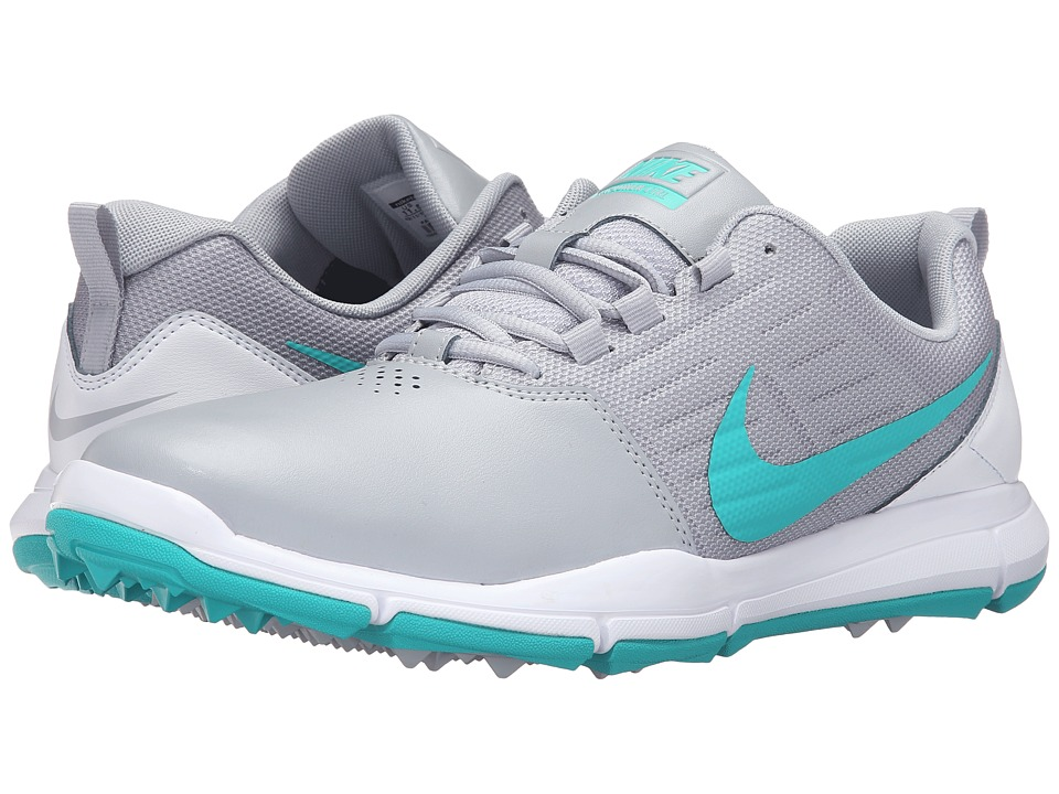 Nike Golf - Explorer SL (Wolf Grey/White/Clear Jade) Men's Golf Shoes