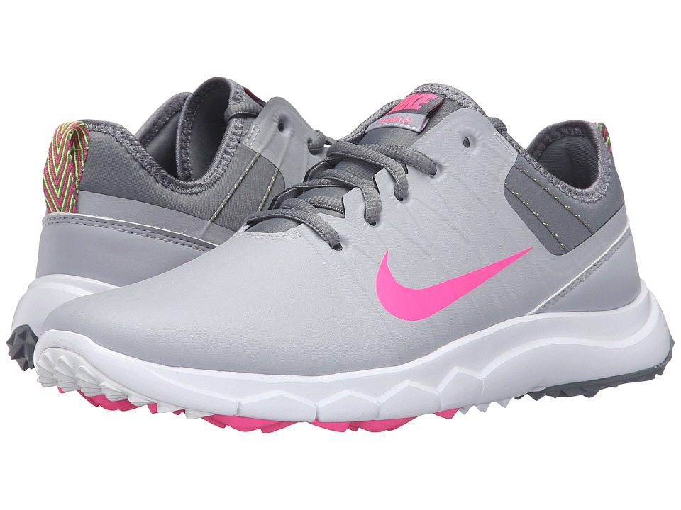 Nike Golf - FI Impact 2 (Wolf Grey/Cool Grey/White/Pink Blast) Women's Golf Shoes