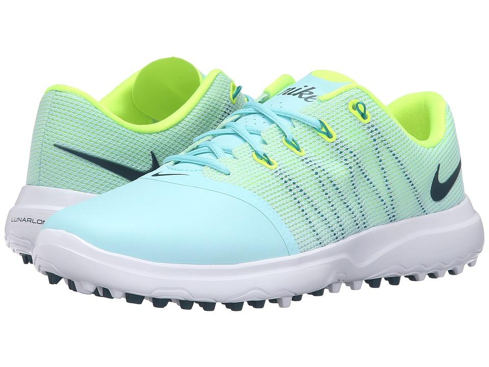 Nike Golf - Lunar Empress 2 (Copa/Volt/White/Midnight Turquoise) Women's Golf Shoes